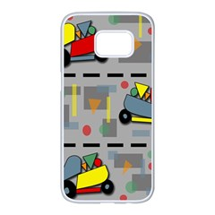 Toy cars Samsung Galaxy S7 edge White Seamless Case