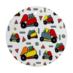 Toy cars pattern Ornament (Round)