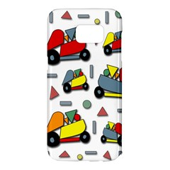 Toy cars pattern Samsung Galaxy S7 Edge Hardshell Case