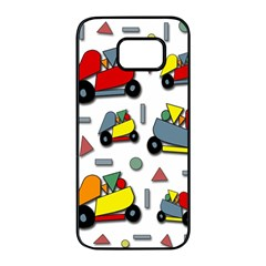 Toy cars pattern Samsung Galaxy S7 edge Black Seamless Case