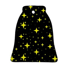 Bright Yellow   Stars In Space Ornament (bell)