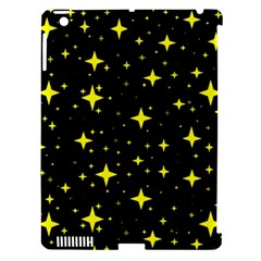 Bright Yellow   Stars In Space Apple Ipad 3/4 Hardshell Case (compatible With Smart Cover)