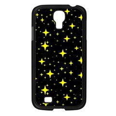 Bright Yellow   Stars In Space Samsung Galaxy S4 I9500/ I9505 Case (black)