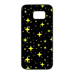 Bright Yellow   Stars In Space Samsung Galaxy S7 Edge Black Seamless Case