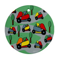 Toy car pattern Ornament (Round)