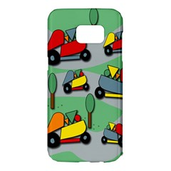 Toy car pattern Samsung Galaxy S7 Edge Hardshell Case