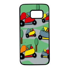 Toy car pattern Samsung Galaxy S7 Black Seamless Case