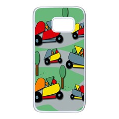 Toy car pattern Samsung Galaxy S7 White Seamless Case