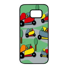 Toy car pattern Samsung Galaxy S7 edge Black Seamless Case