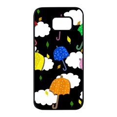 Umbrellas 2 Samsung Galaxy S7 edge Black Seamless Case