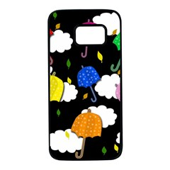 Umbrellas 2 Samsung Galaxy S7 Black Seamless Case