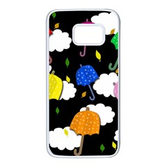 Umbrellas 2 Samsung Galaxy S7 White Seamless Case