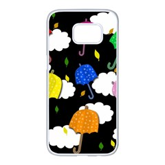 Umbrellas 2 Samsung Galaxy S7 edge White Seamless Case
