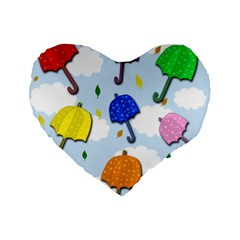 Umbrellas  Standard 16  Premium Heart Shape Cushions