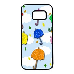 Umbrellas  Samsung Galaxy S7 Black Seamless Case