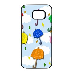 Umbrellas  Samsung Galaxy S7 Edge Black Seamless Case