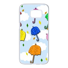 Umbrellas  Samsung Galaxy S7 edge White Seamless Case