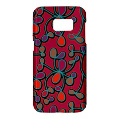 Red floral pattern Samsung Galaxy S7 Hardshell Case