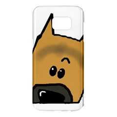 Peeping German Shepherd Samsung Galaxy S7 Edge Hardshell Case