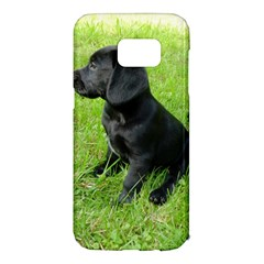 Black Lab Puppy Samsung Galaxy S7 Edge Hardshell Case