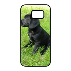Black Lab Puppy Samsung Galaxy S7 edge Black Seamless Case
