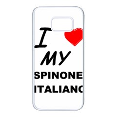 Spinone Love Samsung Galaxy S7 White Seamless Case