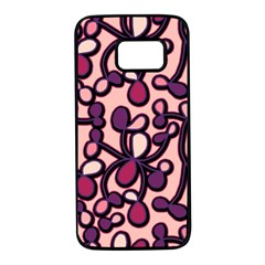 Pink And Purple Pattern Samsung Galaxy S7 Black Seamless Case