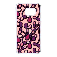 Pink and purple pattern Samsung Galaxy S7 White Seamless Case