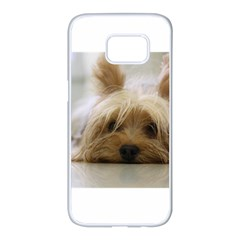 Yorkshire Terrier Flat Samsung Galaxy S7 edge White Seamless Case