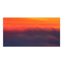 Sunrise Colors Purple Orange Pink Satin Shawl