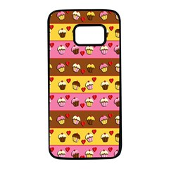 Cupcakes pattern Samsung Galaxy S7 Black Seamless Case
