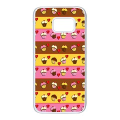 Cupcakes pattern Samsung Galaxy S7 White Seamless Case
