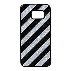 Stripes3 Black Marble & Gray Marble Samsung Galaxy S7 Black Seamless Case