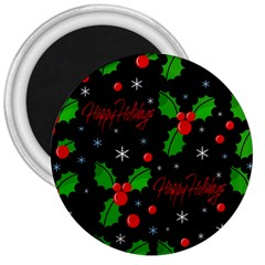 Happy holidays pattern 3  Magnets