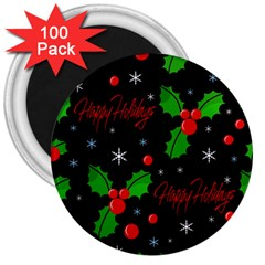 Happy holidays pattern 3  Magnets (100 pack)