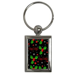 Happy holidays pattern Key Chains (Rectangle)