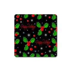Happy holidays pattern Square Magnet