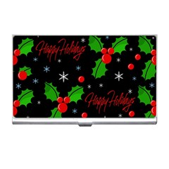 Happy holidays pattern Business Card Holders