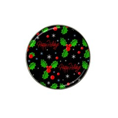 Happy holidays pattern Hat Clip Ball Marker (4 pack)