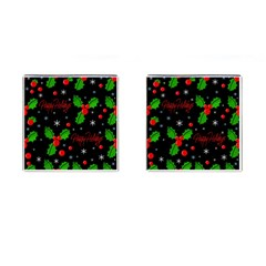 Happy holidays pattern Cufflinks (Square)