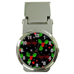 Happy holidays pattern Money Clip Watches