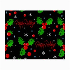 Happy holidays pattern Small Glasses Cloth (2-Side)