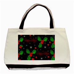 Happy holidays pattern Basic Tote Bag (Two Sides)