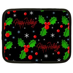 Happy holidays pattern Netbook Case (XL)
