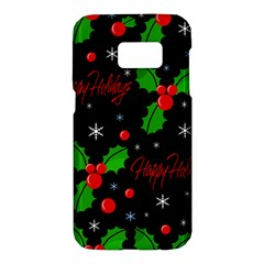 Happy holidays pattern Samsung Galaxy S7 Hardshell Case