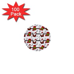 Xmas song pattern 1  Mini Buttons (100 pack)