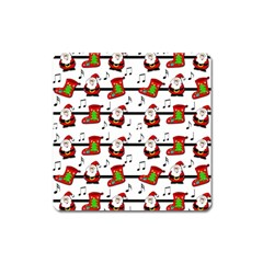 Xmas song pattern Square Magnet