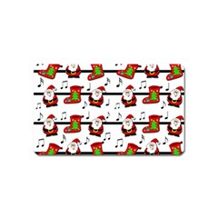 Xmas song pattern Magnet (Name Card)