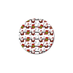 Xmas song pattern Golf Ball Marker (10 pack)