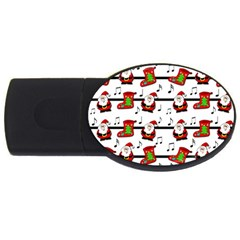 Xmas song pattern USB Flash Drive Oval (4 GB)